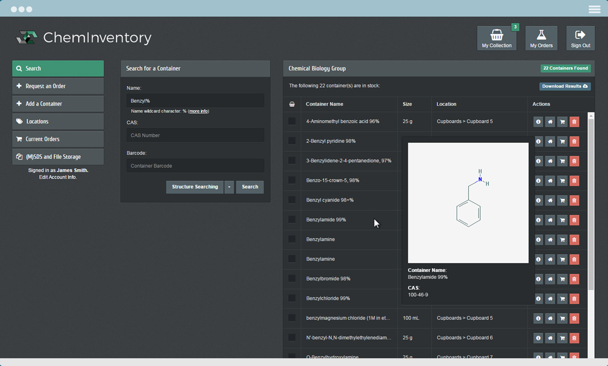laboratory chemical stock management software